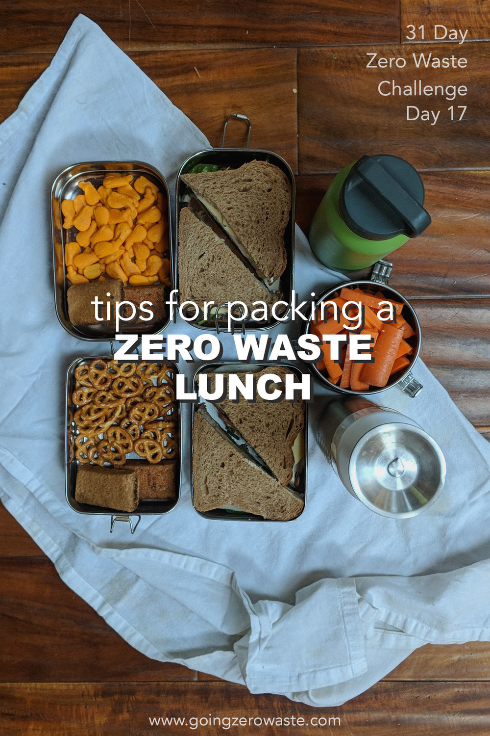 Tips for packing a zero waste lunch from www.goingzerowaste.com day 17 of the zero waste challenge #zerowaste #zerowastechallenge #lunch