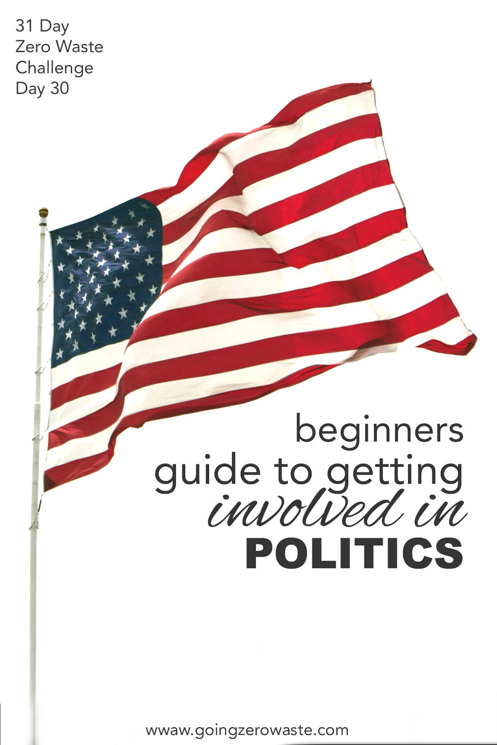 Beginners guide to getting politically involved from the 31 day zero waste challenge from www.goingzerowaste.com #politicallyinvolved #activism #zerowaste #zerowastechallenge