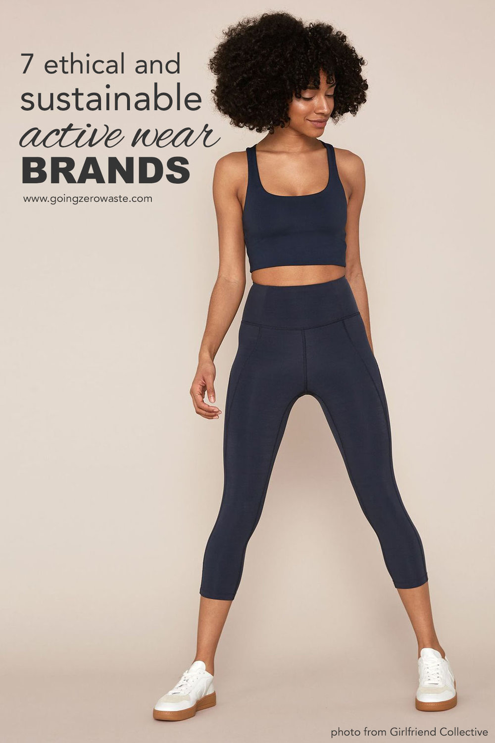 7 ethical and sustainable active wear brands from www.goingzerowaste.com #zerowaste #ethicalfashion #sustainablefashion #athleticwear