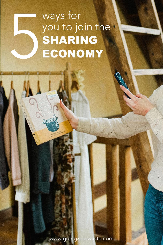 5 Ways for You to Join the Sharing Economy from www.goingzerowaste.com #sharingecononmy #zerowaste #ecofriendly