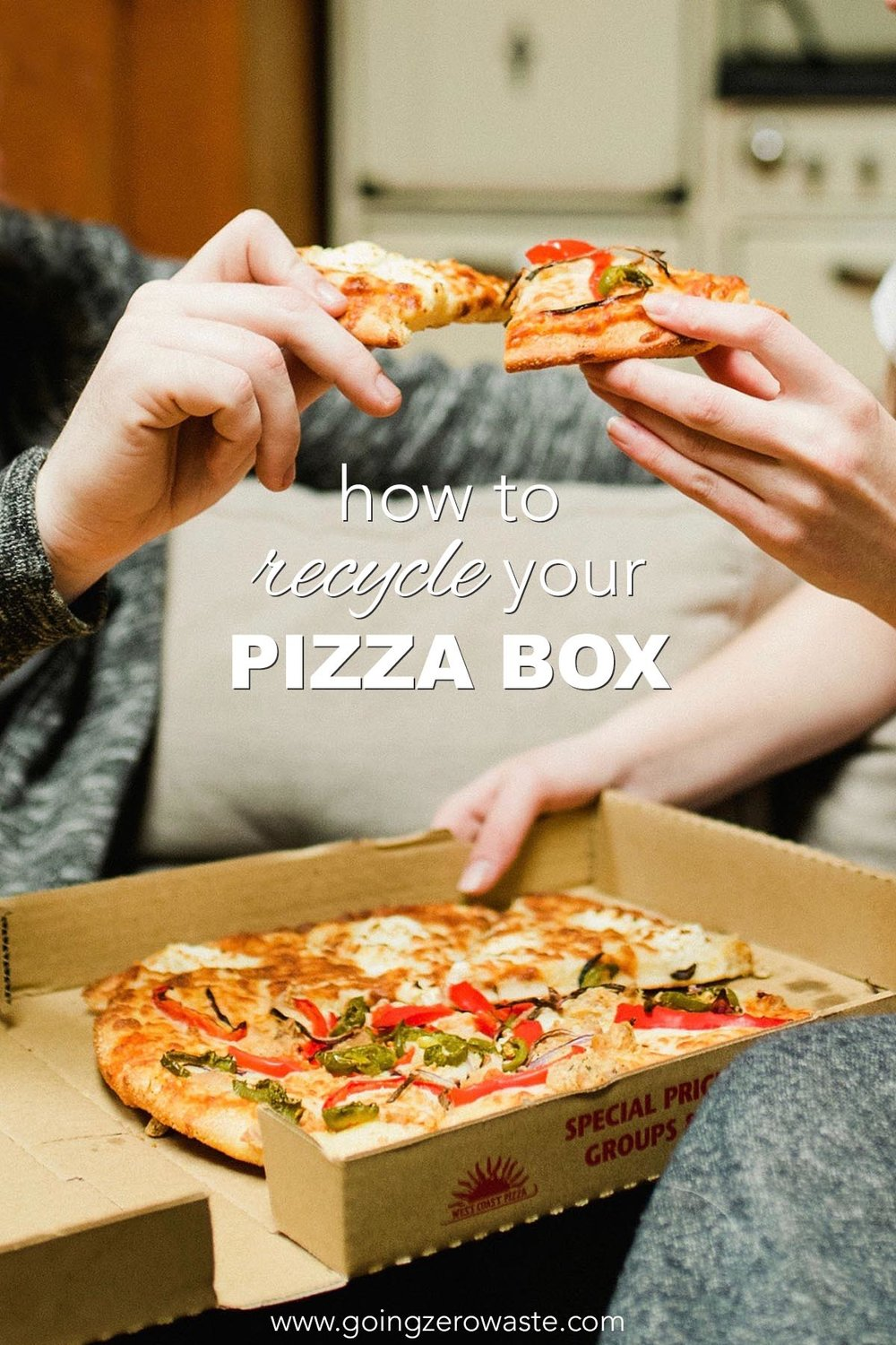 How to Recycle Your Pizza Box from www.goingzerowaaste.com #pizza #howtorecycle #pizzabox #zerowaste #recycle