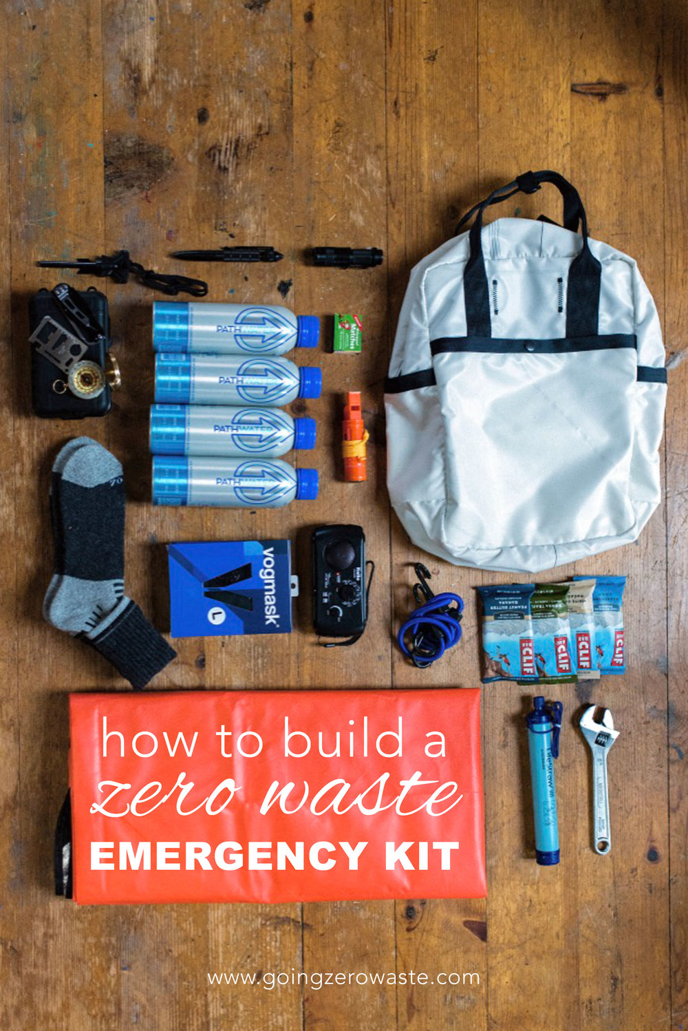 How to build a zero waste emergency kit from www.goingzerowaste.com #zerowaste #ecofriendly #emergencykit #emergencies #emergencypreparedness #beprepared #prep #gogreen