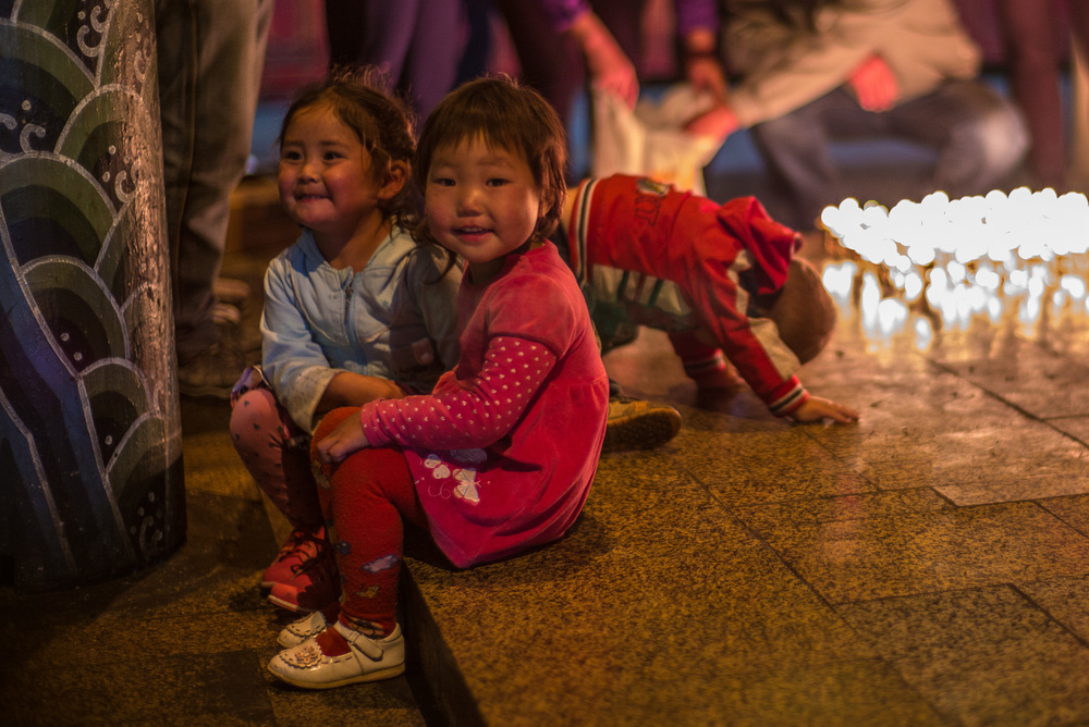 Mongolian children in main temple