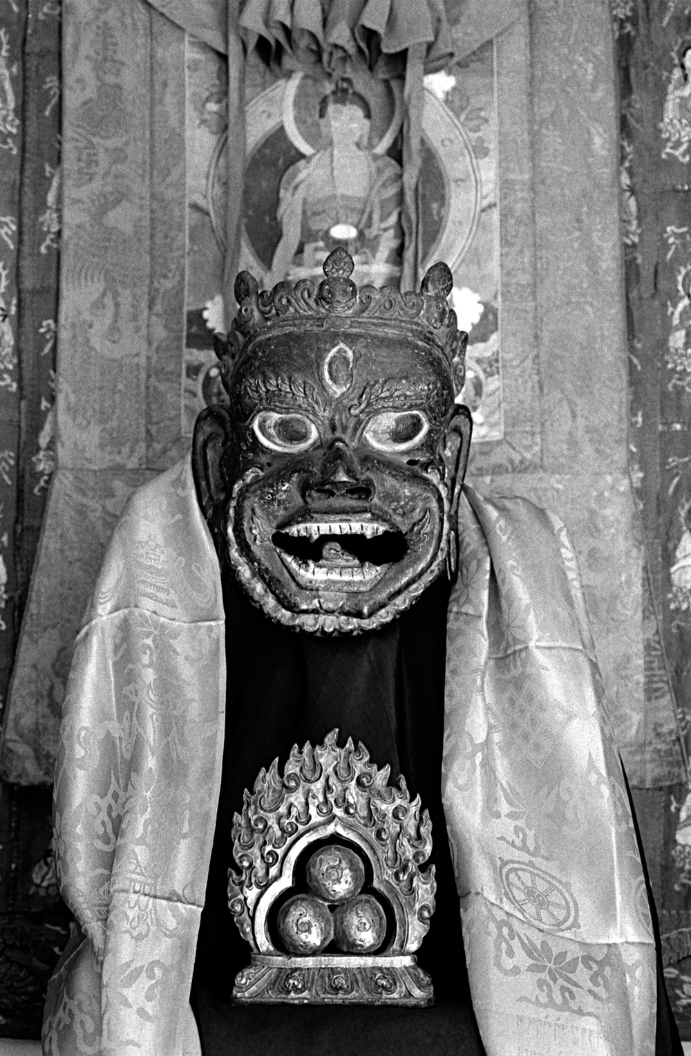 Mahakala mask with Three Jewels (17th century)