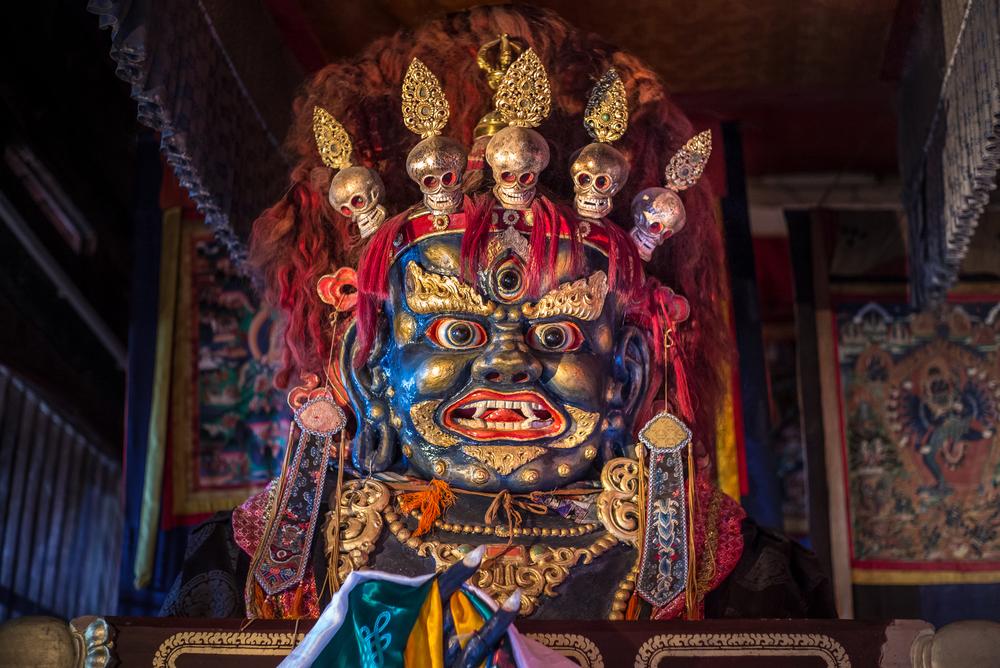Mahakala ritual mask