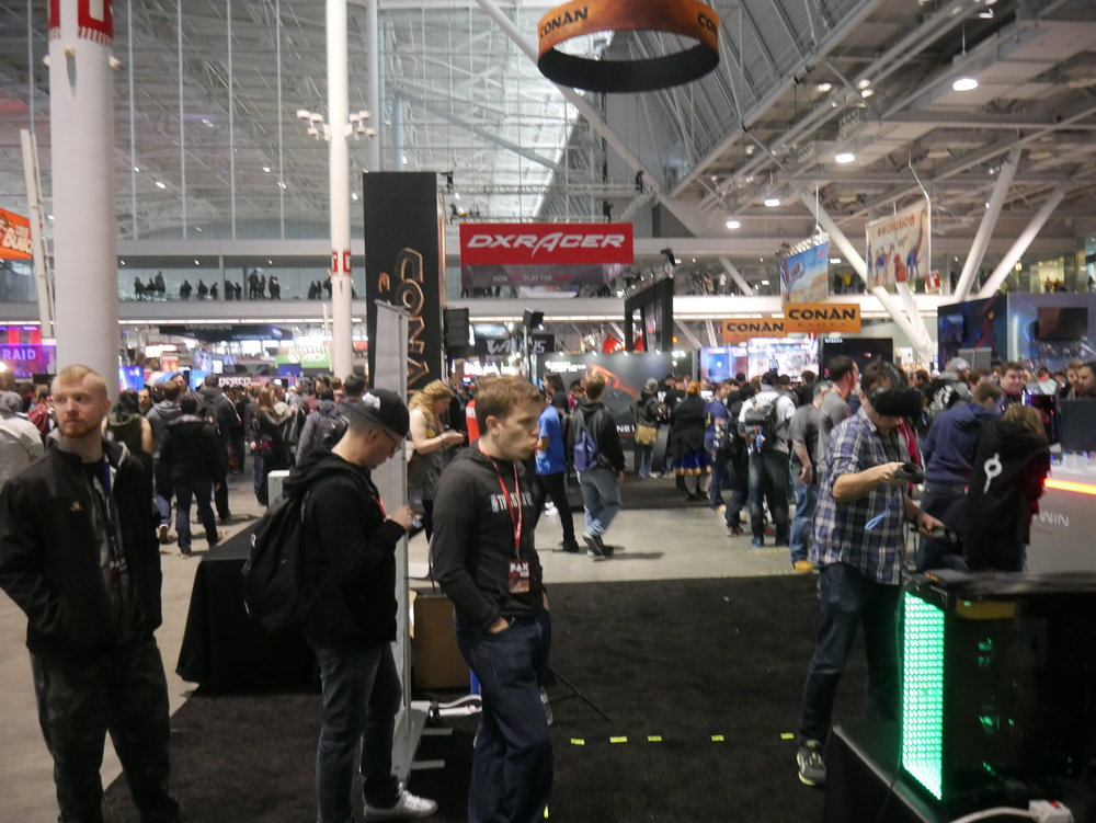PAX East 2017 exhibit show floor.