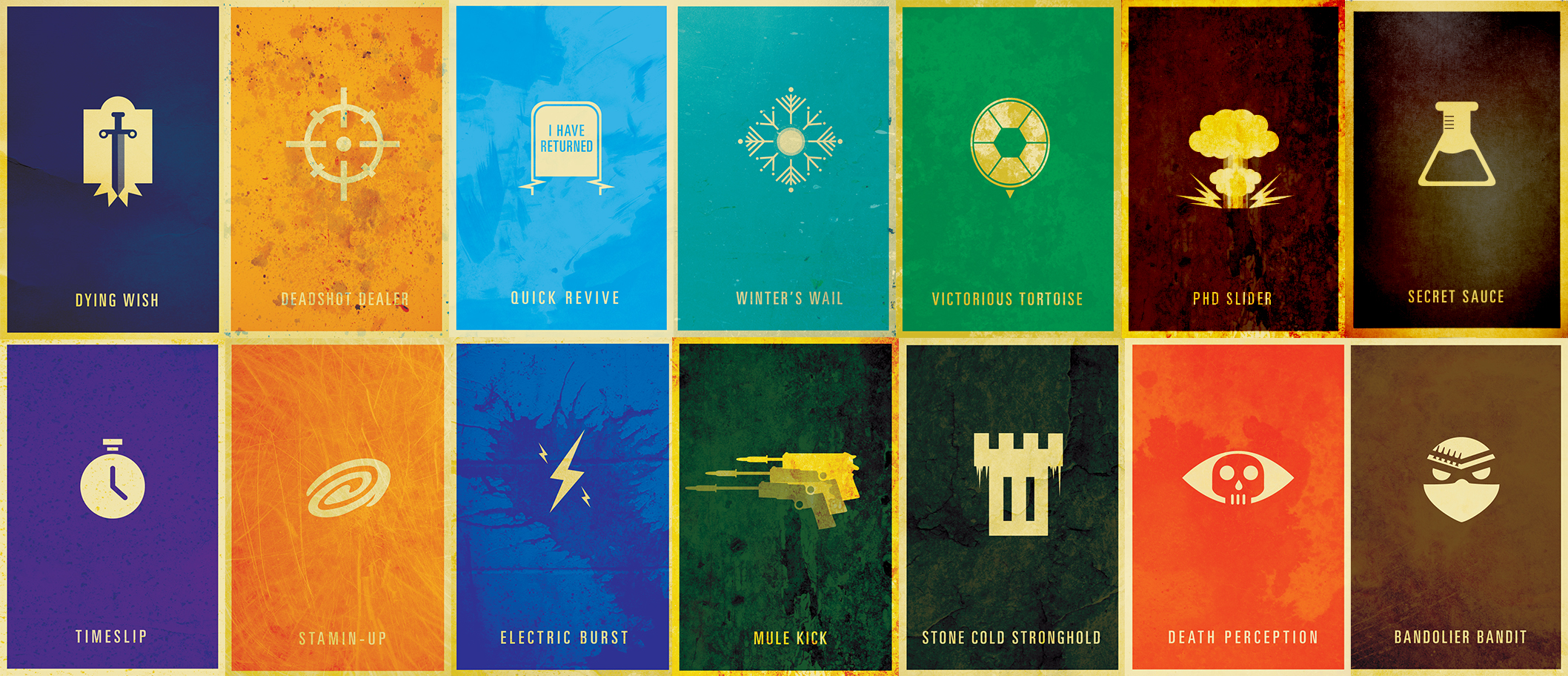 New Perk Poster Collection Rad Rendering