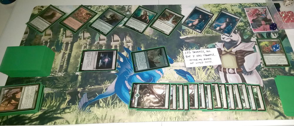 10/30/16, 2-Headed Giant || Ascension & Ezuri +30 mana, my elves get +23/+23 & Trample, everything else gets +5/+5