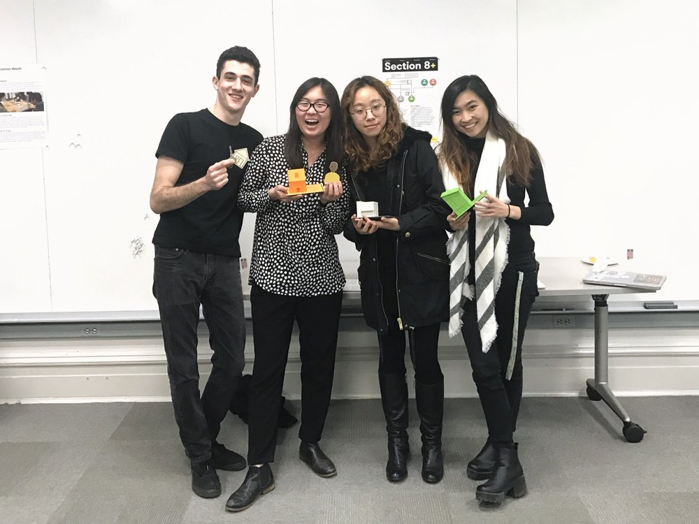 the Section 8+ team. (from left): Me, Adella Guo, Hae Wan Park, Carolyn Zhou