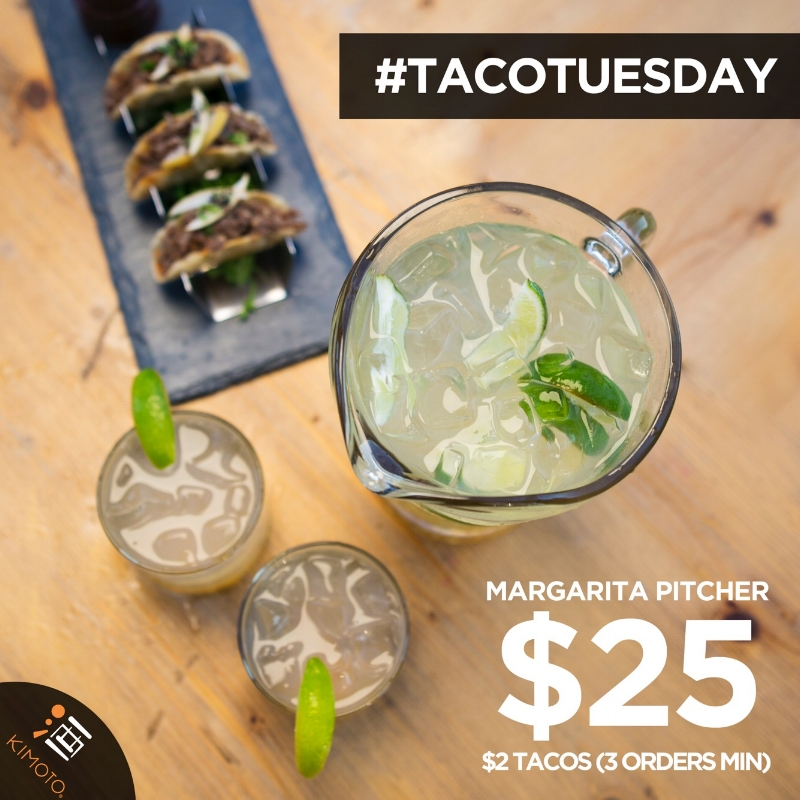 Taco Tuesday $25 Margarita and $2 Tacos (Minimum 3 orders)