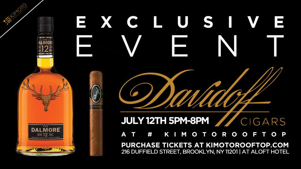Davidoff Cigars Dalmore Whiskey Night KIMOTO ROOFTOP GARDEN LOUNGE
