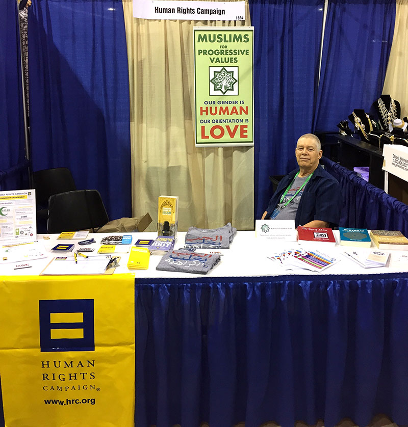 Frank Parmir managing the MPV-HRC booth at ISNA's 54th annual convention in Chicago, June 30th, 2017.