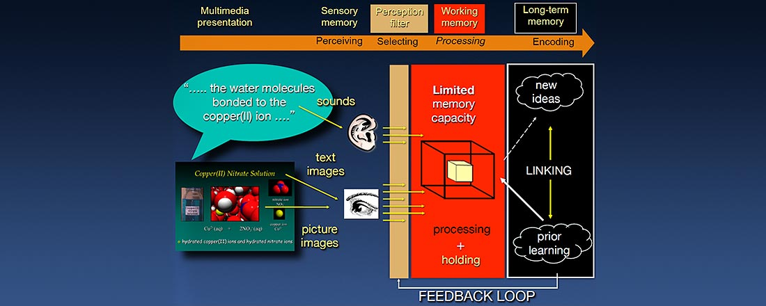 Cognitive processing of audiovisual information. Credit VisChem, Roy Tasker.
