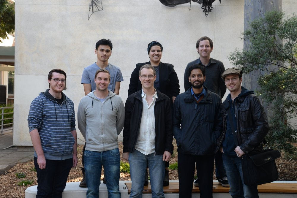 Back row from left: Lap Chieu, Qamariya Nasrullah, Matt McCurry. Front row: Alex McDonald, Travis Park, Al Evans, Roysul Islam, David Hocking. May 2015.