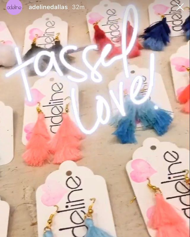 Go get some tassel earrings at @adelinedallas 🤗✨💖