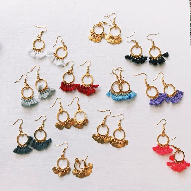 make sure to pick up some tiny tassel or coin earrings on GCEJEWELRY.COM 🎈🎈🎈