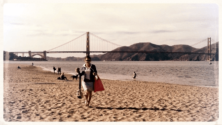 Crissy Field - Brenda at the beach!