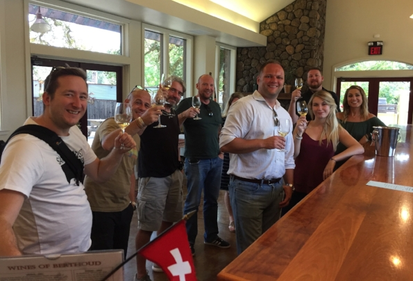 Cheers from the bar at Mayo Family Winery
