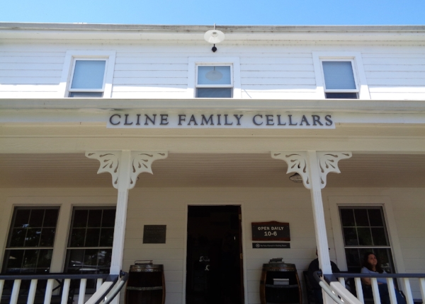 The Goldrush Era Farmhouse that serves as the tasting room at Cline Cellars