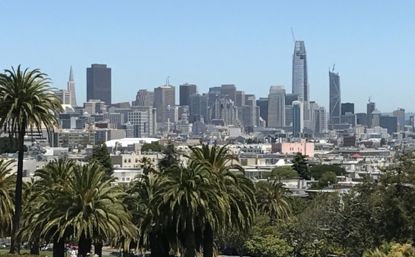 The City Skyline from Dolores Park