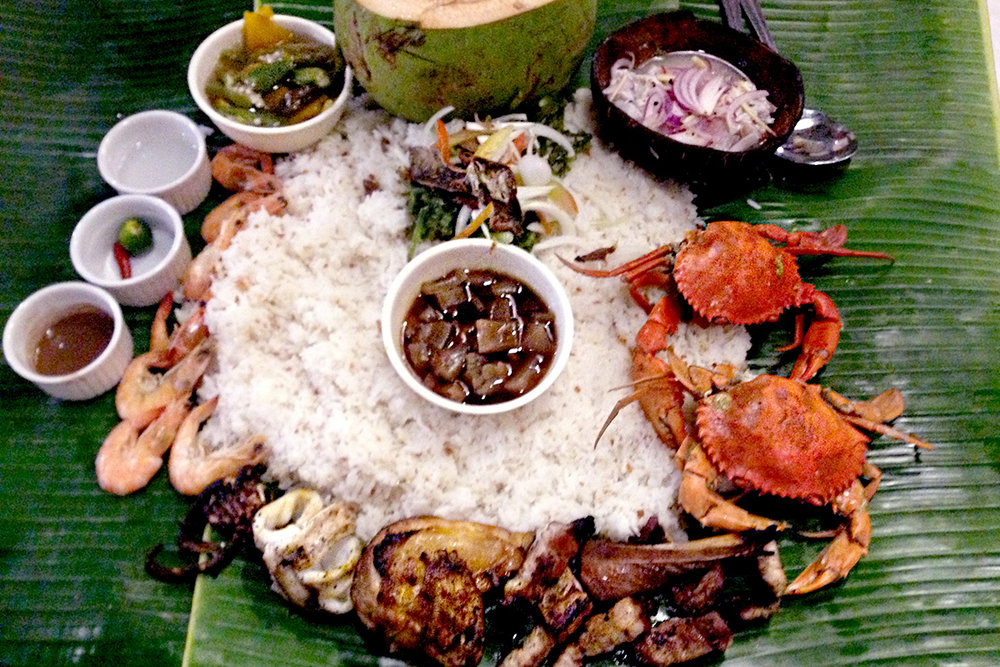 Boodle feast at Blackbeard's Seafood Island, Mall of Asia, Pasay City, Philippines
