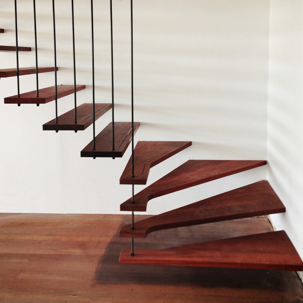 Jarrah Suspended Staircase In Mount Lawley, Perth,WA