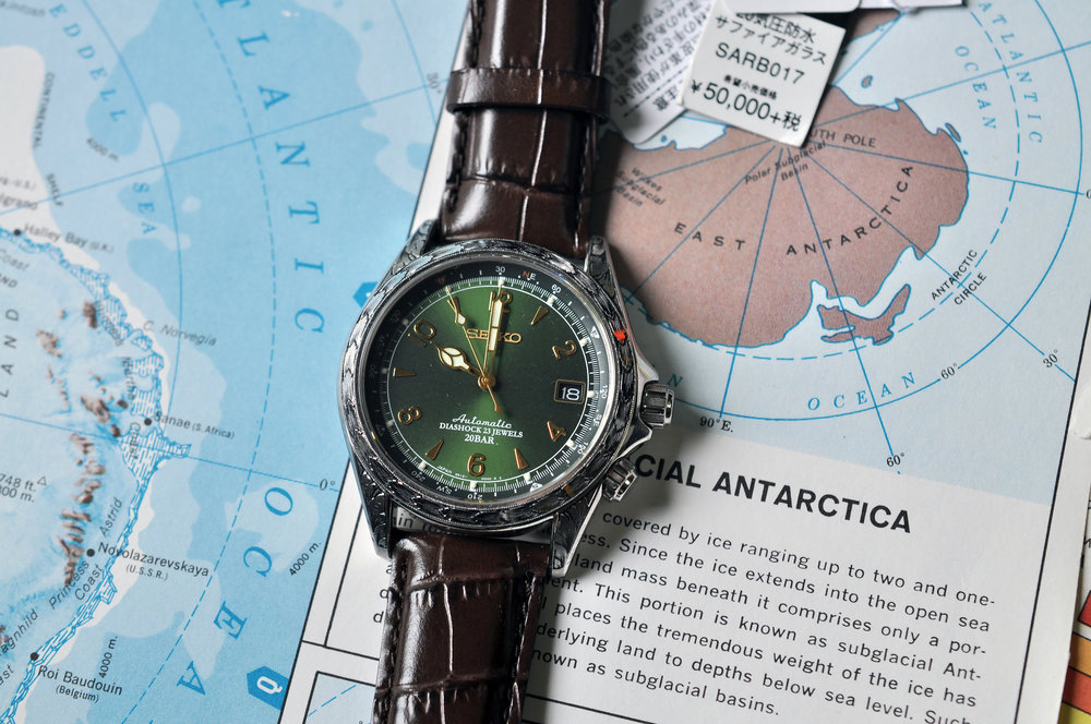 The Seiko Alpinist (engraved).