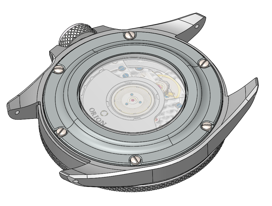 Advancing the caseback design. 4 screws provide no redundancy or safety.