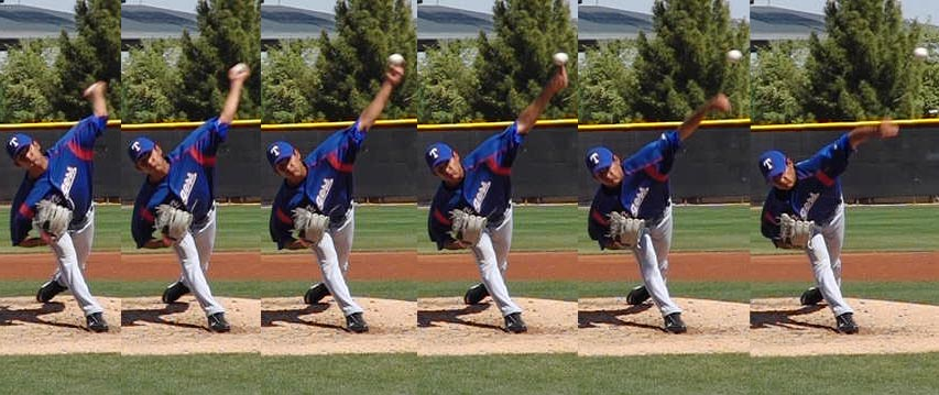 Texas Rangers LHP prospect Martin Perez throwing a curveball with pronation. [click to enlarge]
