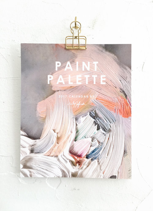 "2017 ""painter's palette"" calendar"