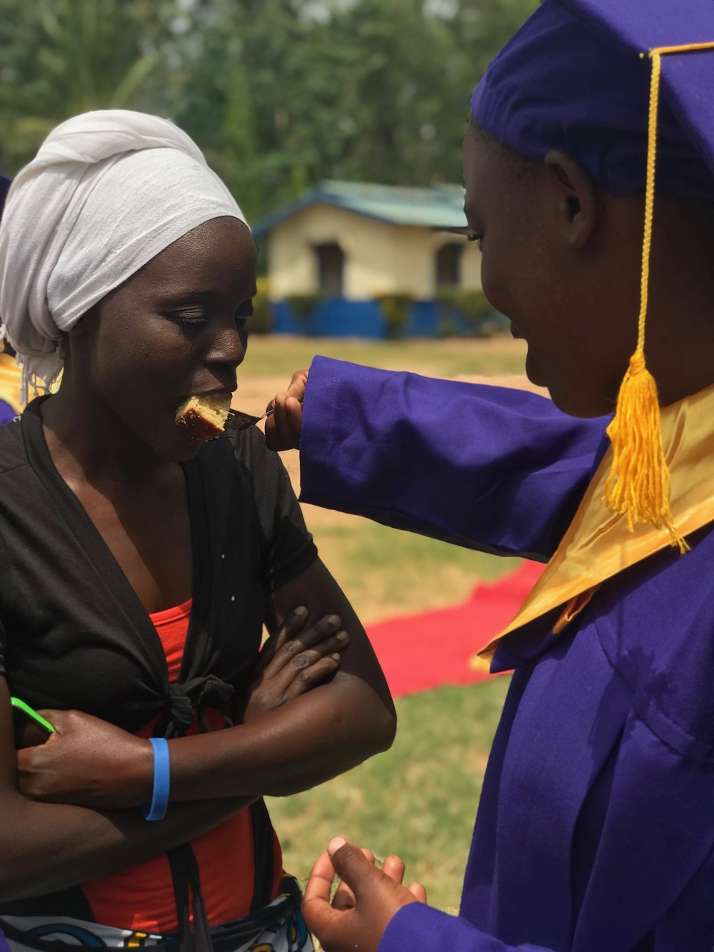 The graduates fed the parents