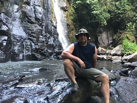 Mark at the waterfall.