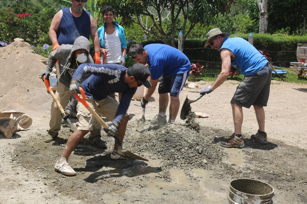 The concrete crew!