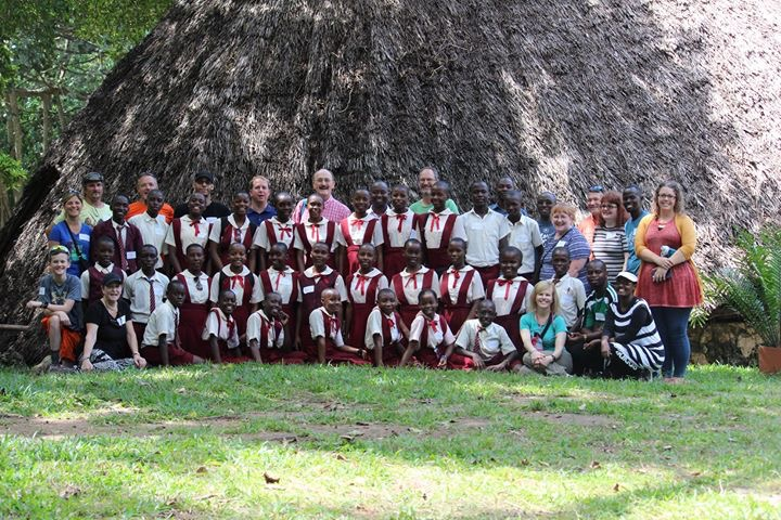Vipingo grade 8 students at Haller Park with the Fox River Team