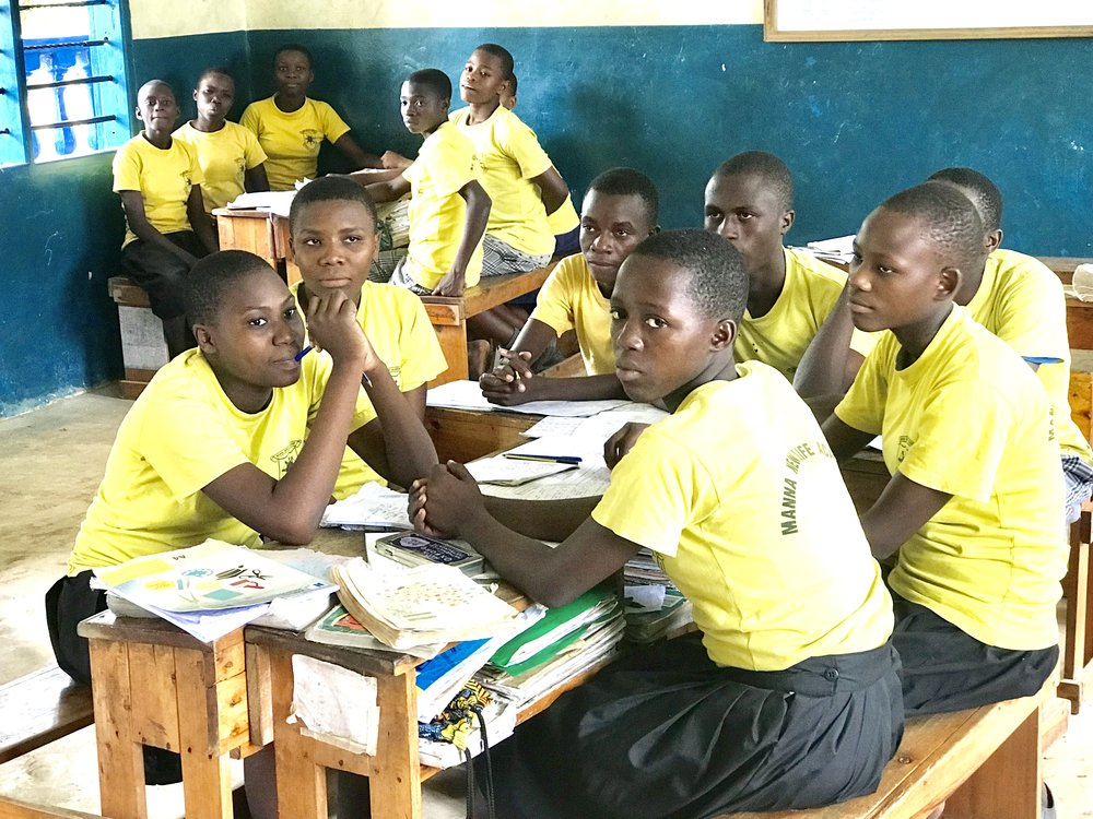 Class 8 students at New Life