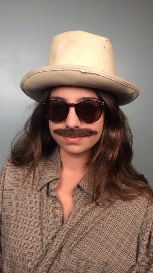 Lace piece mustache