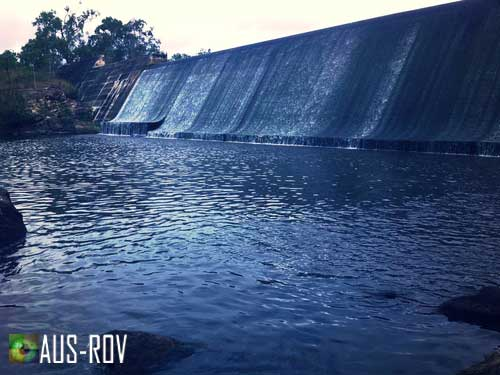 AUS-ROV provide grout injection support at Collins Weir in Atherton Tablelands.