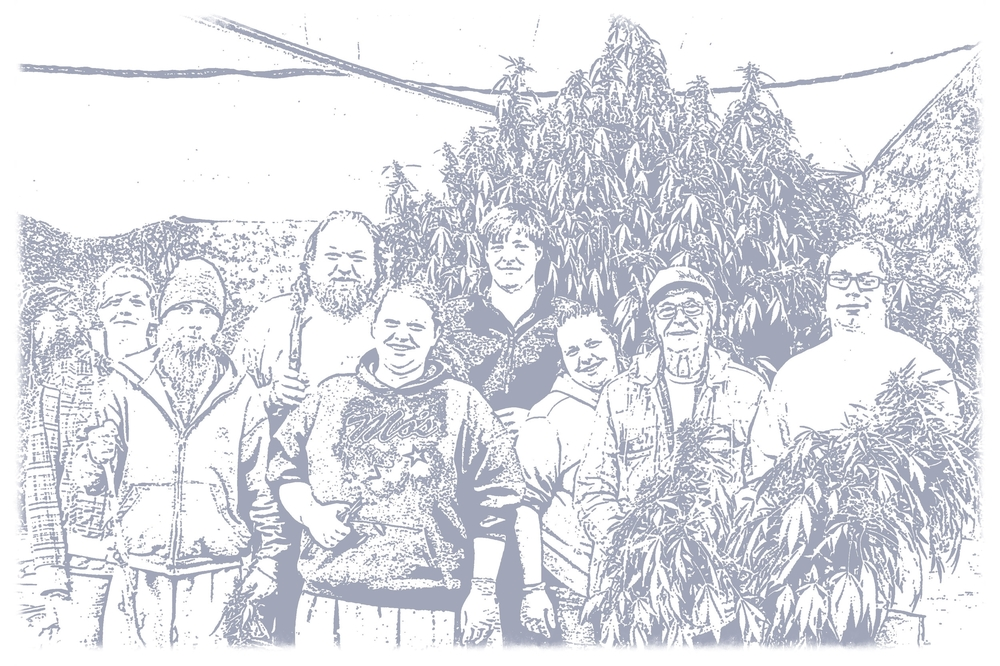 Cannabeizein friends and family, Oregon, 2015.