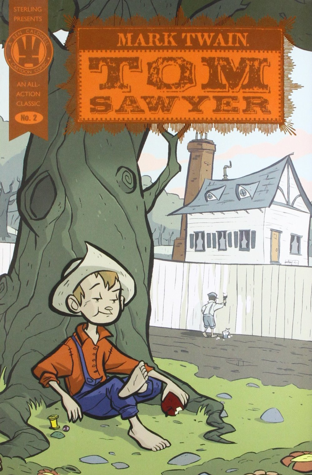 With its lively, fun narrative and irrepressible hero,  Tom Sawyer  is tailor-made for the graphic novel form. Just imagine such classic moments as Tom and Becky in the bat-filled cave or the hilarious fence-painting incident captured in bright and atmospheric images. Author Tim Mucci and artist Rad Sechrist, one of the most talented up-and-coming comics illustrators today, have endowed each character with personality and each scene with movement and energy. Every frame is filled with such detail—from the buildings to the carefully created backgrounds—that readers will feel as if they could step right into Twain's wonderful world.   Buy it through Amazon!