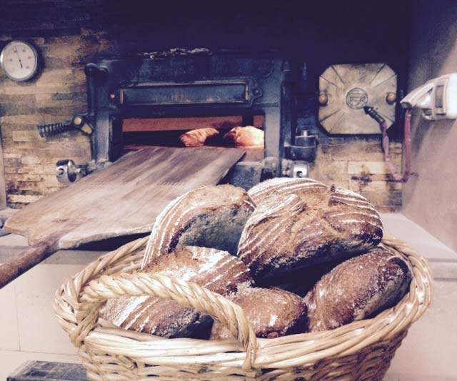 some delicious bread and the oven,