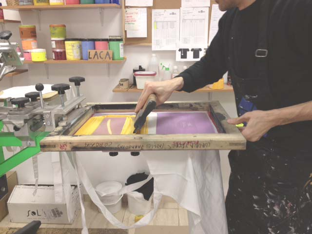 screen-printing aprons in  Baobag  ,