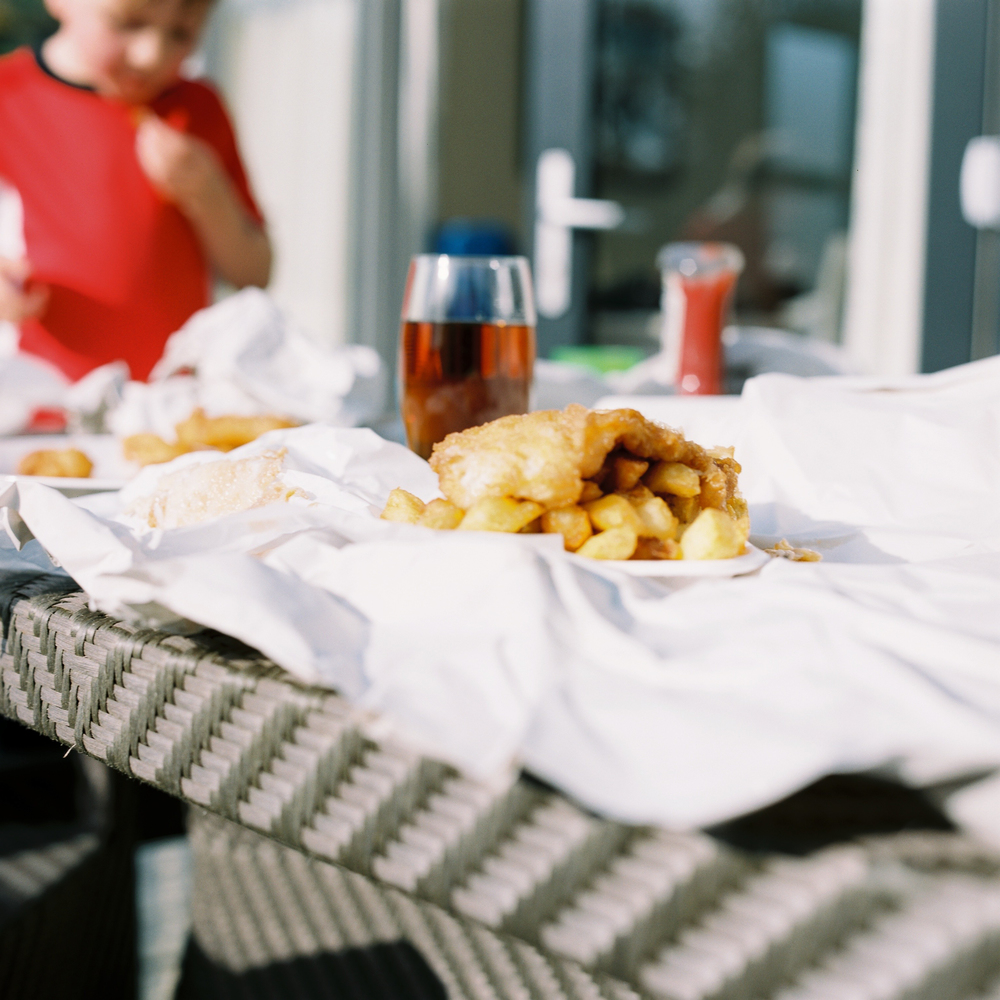 Must have fish and chips when by the sea.