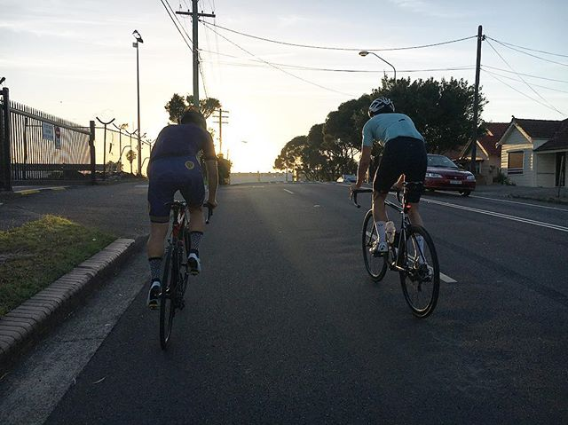 Spinning to Cronulla on a nice flat ride this morning #lightbro #slowpokesdayout