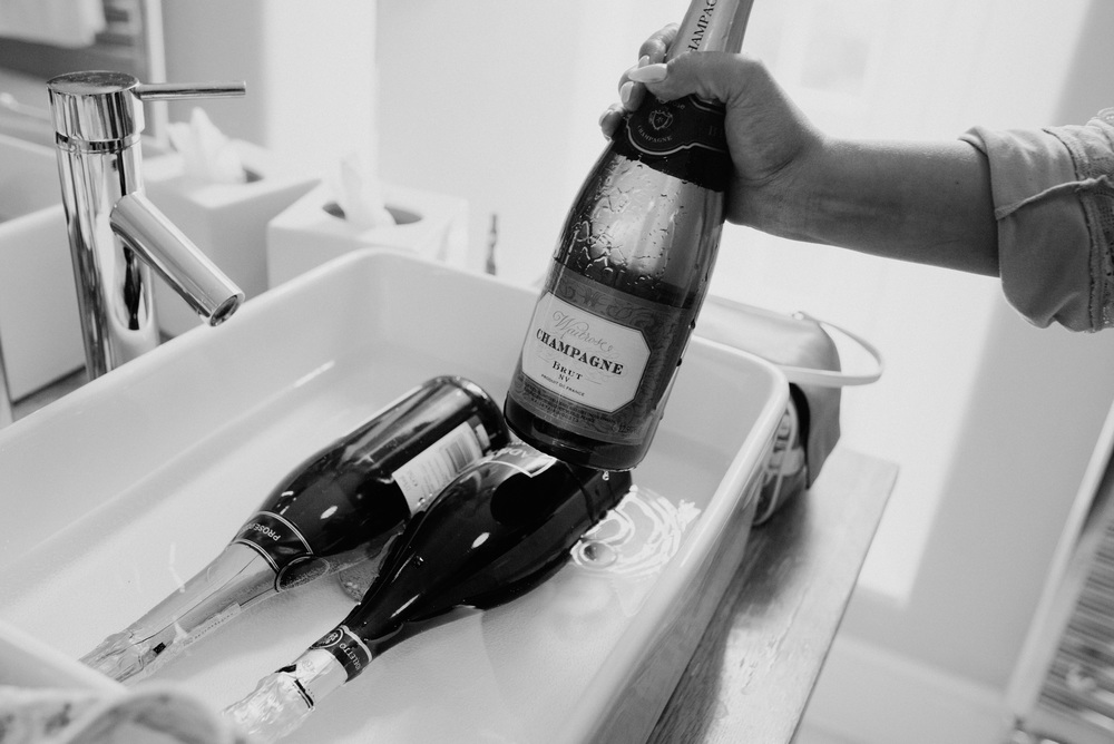 Goldsborough Hall Wedding Champagne Bridal Prepations - Toast of Leeds Photography