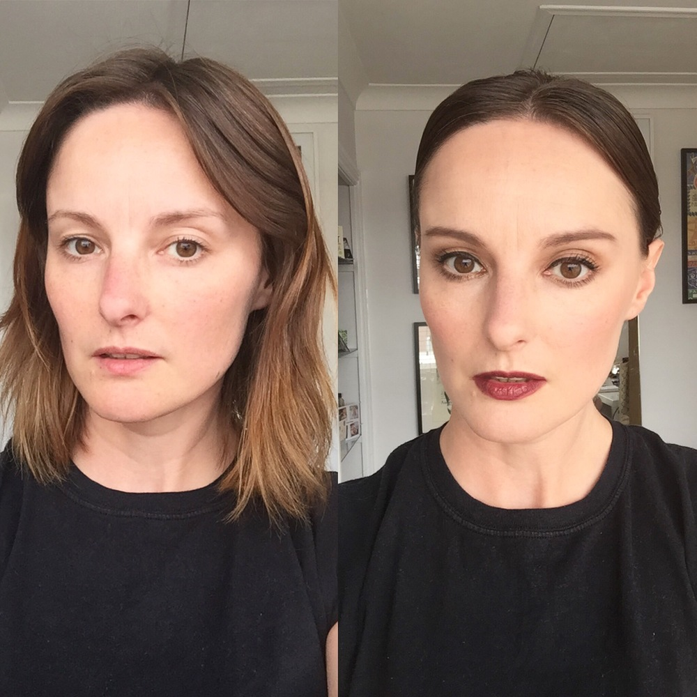 Before & After Chic Wedding Make Up