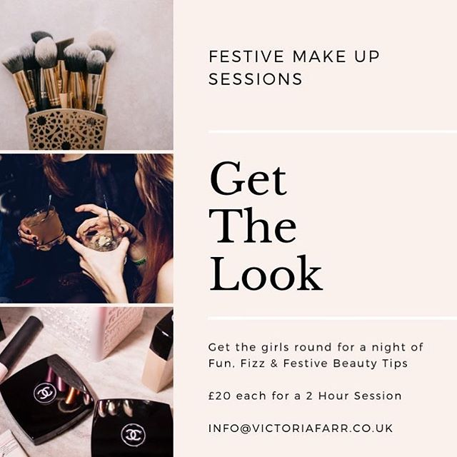 It's Christmas!!!! 💥💥💥💥 - - Im so happy to bring back my festive make up sessions for 2018! I have a couple of spots remaining so get the girls round and snap them up!! Fun, fizz and festiveness 💋 - - A bottle of fizz for the hostess, festive beauty tips and live demonstration getting you ready for your party season! - #yorkshiremakeupartist #victoriafarr #victoriafarrmakeupartist #skinlookslikeskin #partymakeup #party #makeuphull #makeuptutorial #christmaspartymakeup