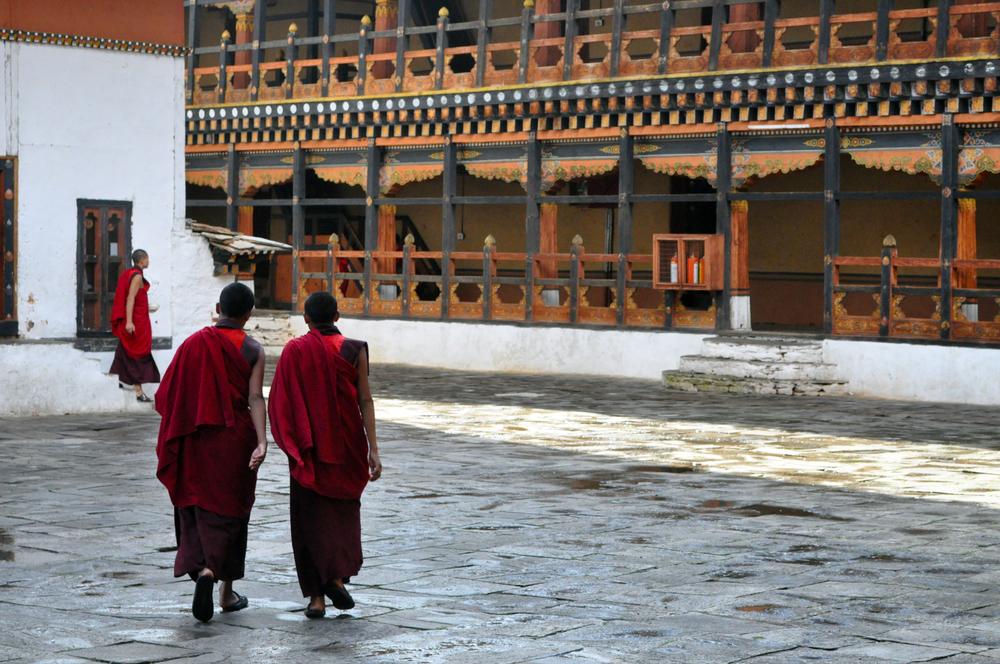 Monks Taking a Stroll
