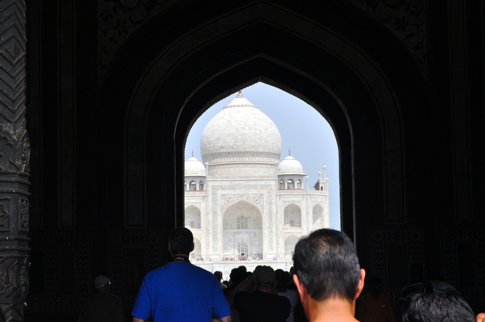 Entering the Taj Mahal
