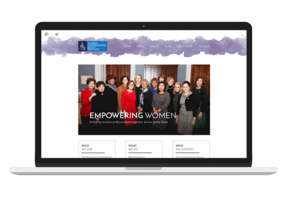 women's congressional policy institute - usability testing // rebranding