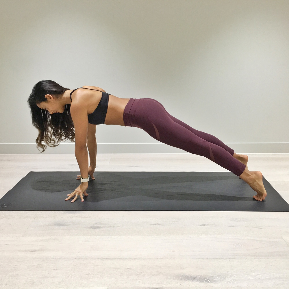 1. Come into a push up position which just the tips of your fingers on the floor. At first just try to hold for 15 seconds, then progress to performing push ups in this way.